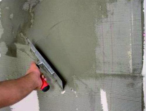 Нанесение армирующей сетки Resmix GW