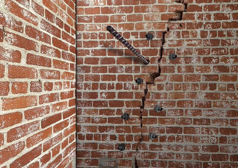 Инъецирование цементным раствором трещин бетон облицовочный текстура
