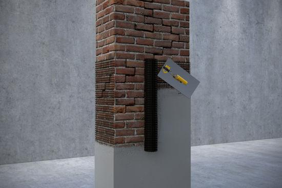 Усиление кирпичной кладки углеродной сеткой